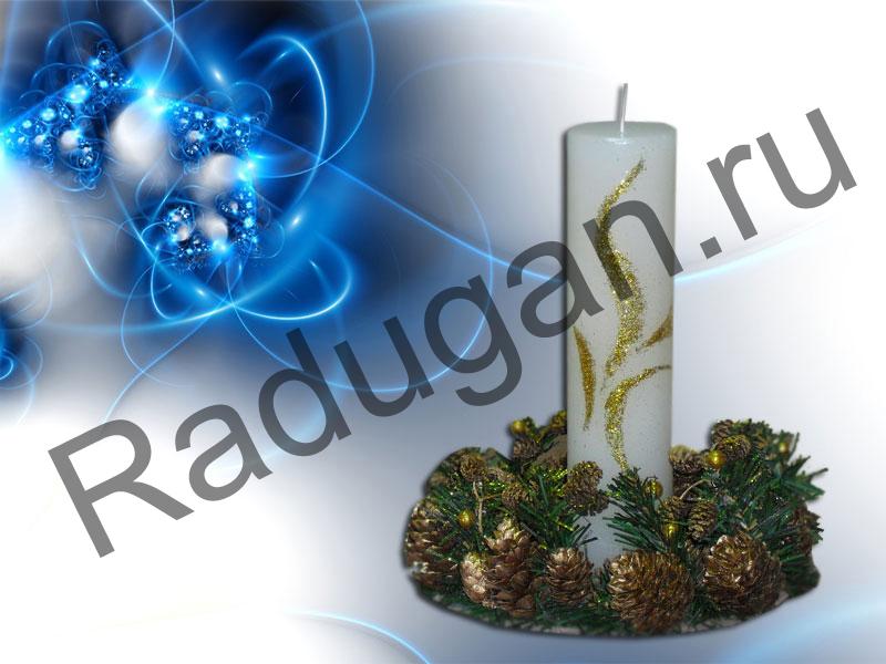 Подставка под новогодние свечи своими руками